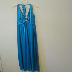 Jewel Blue Prom Dress